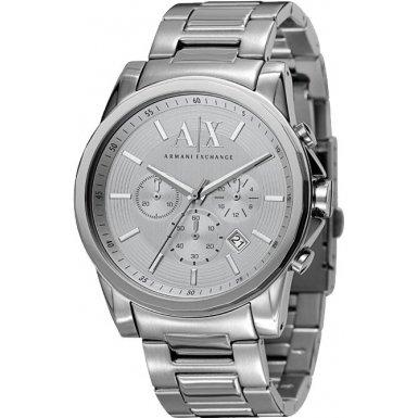 Armani Exchange AX2058 Mens BANKS Silver Tone Watch