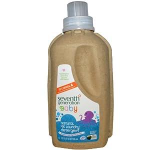 Seventh Generation Liquid Laundry Detergent 4x, Baby - 32oz