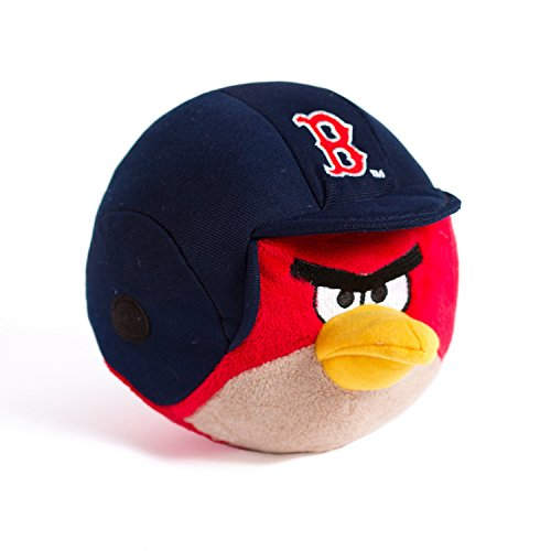 MLB Boston Sox Angry Bird Plush Toy, Small, Red - 1