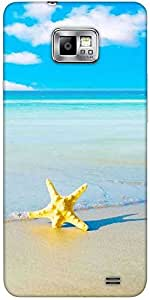 Snoogg Summer Beach Solid Snap On - Back Cover All Around Protection For Sams...