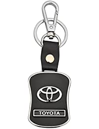 Brighton Toyota Leather Metal Locking Keychain