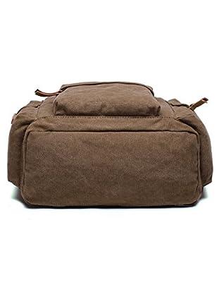 Leaper Waterproof Vintage Canvas SLR/DSLR Camera Backpack/Shoulder Bag/Rucksack Bag for Canon Sony Nikon Olympus
