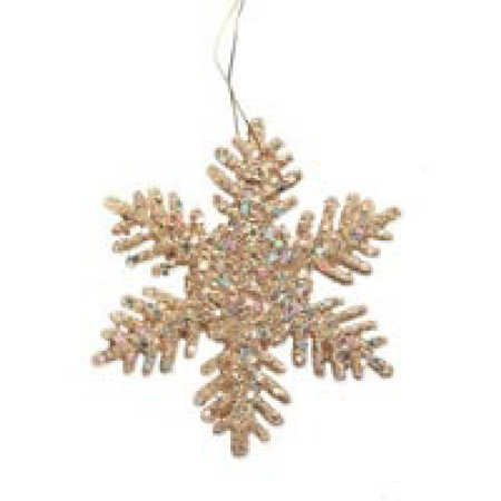 "144 -2"" Gold Glitter Snowflake Winter Wedding Favors or Ornaments"