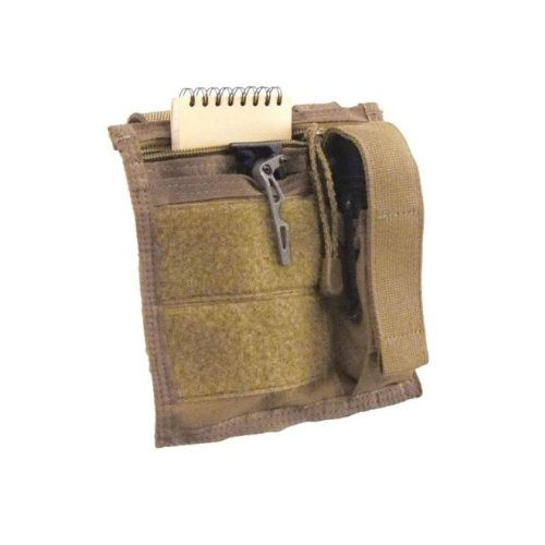 Tactical Assault Gear MOLLE Admin Pouch with Flashlight Pouch Coyote Tan MADMN1-CT