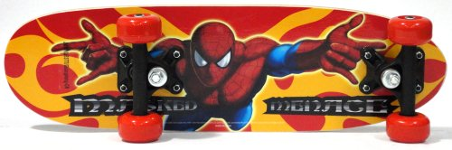 Spider Man 21-Inch Junior Skateboard (Red/Blue)