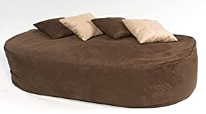 XXXX-L 6 FT Brown Faux Suede Beanbag Bed Bean Bag Sofa Bed Designer Beanbags