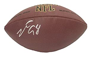 Robert Mathis Autographed Signed NFL Wilson Composite Football, Indianapolis Colts,...