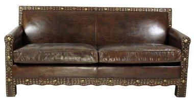 Ledersofa Berkshire 3-Sitzer Vintage-Leder Messingieten jetzt kaufen