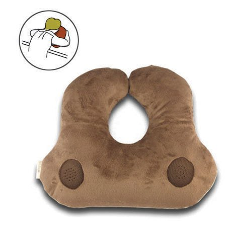 Relaxso EZSLEEP Face Down Speaker Pillow, Silky Plush Mocha