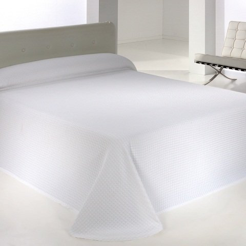 Clara vidal - Colcha de piqué varona(250x260 cm, cama 150), color blanco