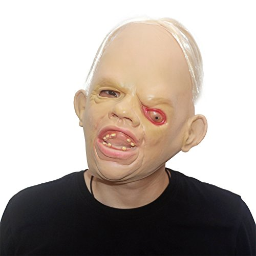 [HOAEY Latex Scary Ugly Mask Novelty Halloween Costume Party Latex Sloth Head Mask] (Sloth Goonies Costumes)
