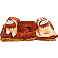 Elegance Multicolour Rabbit Baby Bedding - Set Of 5 Pc - B01J3GER5U