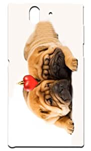"""Rebel Mobile Case Print Design - """"Love Your Pet   Keep Your Pet Healthy & Happy"""" For -Sony L-36"""