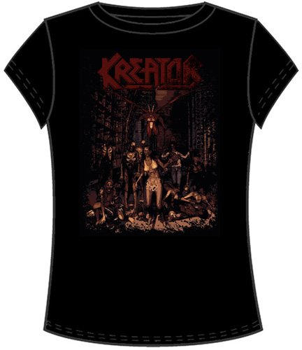 Kreator-World Tour Date ragazze/ragazzi T-Shirt in nero nero X-Large
