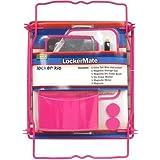 Lockermate 7 Piece Tall Wire Locker Kit (Pink)