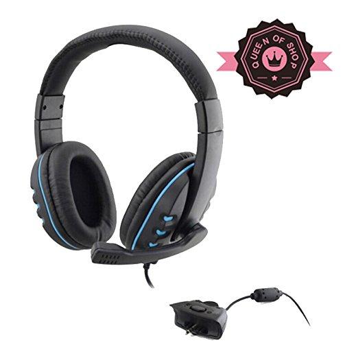 Xb726Xbox Black + Blue New Headset Headphone W/ Mic Microphone For Xbox360 Xbox 360 Live