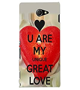 ColourCraft Love Heart and Quote Design Back Case Cover for SONY XPERIA M2