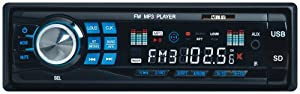 ATekCity Car Audio Stereo In Dash 12V Fm Receiver with Mp3 Player & USB SD Input AUX Receiver + Remote Control