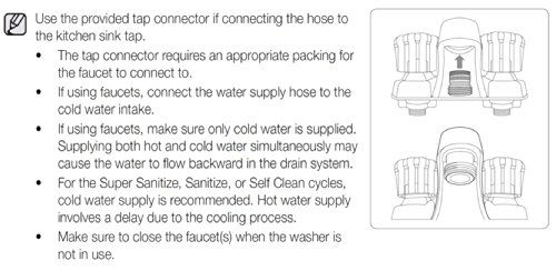 samsung baby care washer manual