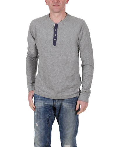 Jack and Jones Vintage Number 7-8-9 13 Ttt Ls Tee a maniche lunghe T-Shirt - Light Grey Melange