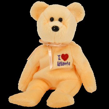1 X TY Beanie Baby - ATLANTA the Bear (I Love Atlanta - Show Exclusive)