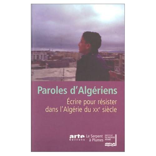 Paroles d'algériens, écrire pour résister... 41WG8QFHRSL._SS500_