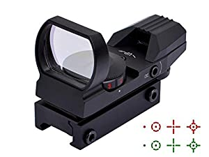 ohuhu red and green reflex sight with 4. Black Bedroom Furniture Sets. Home Design Ideas