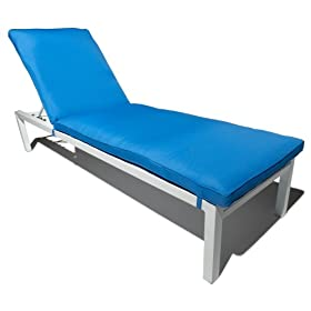 Strathwood St. Croix Aluminum Chaise Lounge with Cushion