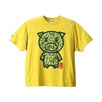 (ぶーでんしょうてん)豊天商店 <大きいサイズ>唐草美豚柄半袖Tシャツ
