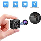 Mini Cop Cam Video Camera, HD 1080P Hidden Camera Portable Action Camera with Night Vision and Motion Detection for Outdoor and Indoor (Q8-Metal) (Color: Q8-Metal)