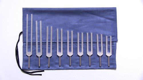 Solfeggio Tuning Forks-9 Forks with Pouch