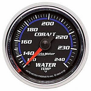 "Auto Meter 6132 Cobalt 2-1/16"" 120-240 F Mechanical Water Temperature Gauge"