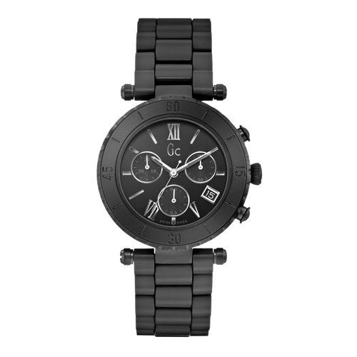 Guess collection x43002m2s 38 stainless steel case black ceramic anti reflective sapphire women for Anti reflective watches