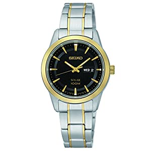 Seiko Women's SUT166 Analog Display Japanese Quartz Two Tone Watch