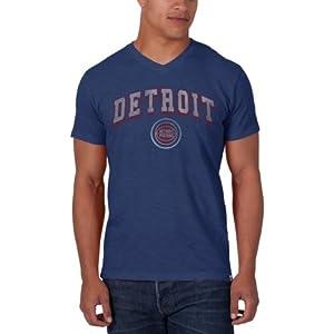 NBA Detroit Pistons JV Scrum Tee, Bleacher Blue by