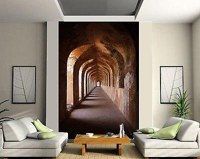 stickersnews-carta-da-parati-in-2-tappeto-tappezzeria-murale-decorativa-corridoio-voute-rif-150-180-