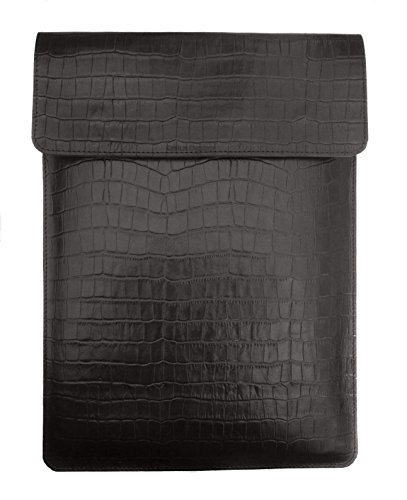 Chalk Factory Croc Print Leather Sleeve/ Slipcase for HP 15-ac082TX 15.6-inch Laptop #OR (Black)  available at amazon for Rs.1919