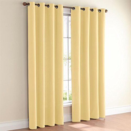 Brylanehome Studio Canvas Grommet Curtain (Citron,52