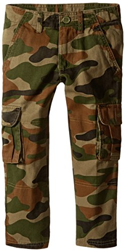 French Toast Little Boys' Cargo Pant, Cadet Green, 5
