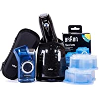Braun Series 7-760cc Pulsonic Shaver System + 1 Travel Shaver + 2 Cleaning Cartridges