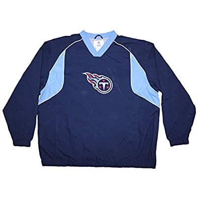 Mens NFL Tennessee Titans Wind Breaker Jacket with Emboridered Logo