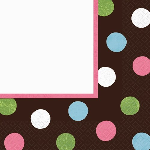 Warm Polka Dot Luncheon Napkins (36 per package)