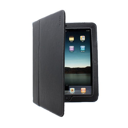 Yoobao New Genuine Leather Protective FLIP Case Cover Pouch with Kickstand For Apple iPad 3 Way View (Black)