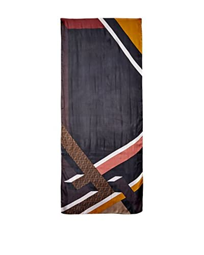 FENDI Women's Silk Scarf, Brown