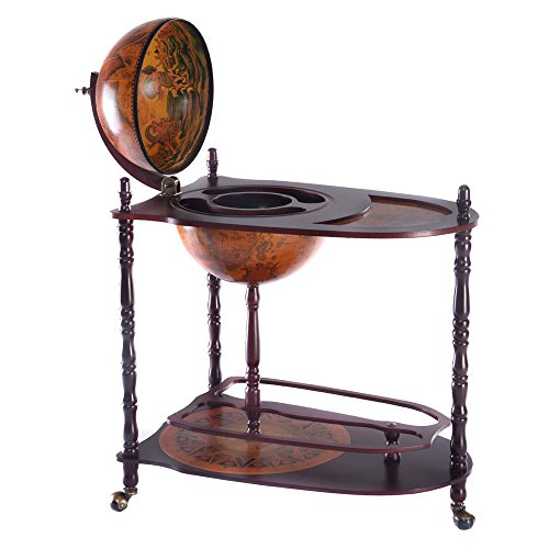 Wine Cabinets Wood Globe Wine Bar Stand 34