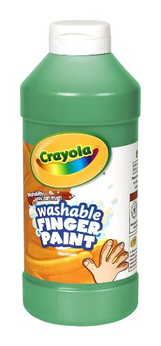 Binney & Smith Crayola(R) Washable Finger Paint, 16 Oz., Green front-1015379