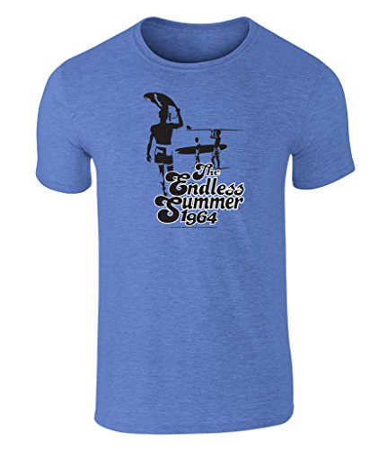 the-endless-summer-1964-icon-grafik-unisex-t-shirt-offiziell-lizenziert-von-bruce-brown-films-blau-x