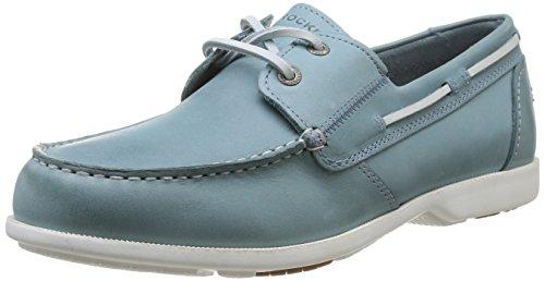 Rockport 2-EYE, Scarpe da barca uomo, Blu (Blau (LT BLUE)), 42.5