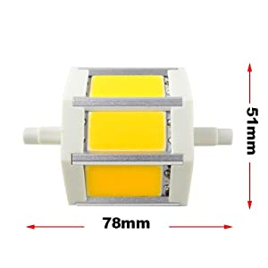 led lampen test mengs r7s j78 78mm 6w dimmbar cob led. Black Bedroom Furniture Sets. Home Design Ideas