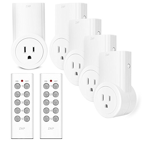Etekcity Wireless Remote Control Electrical Outlet Switch for Household Appliances, White (Learning Code, 5Rx-2Tx) (Appliance Accessories compare prices)